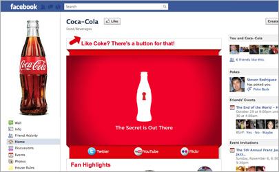 Coke facebook