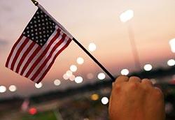 Hand--American-flag