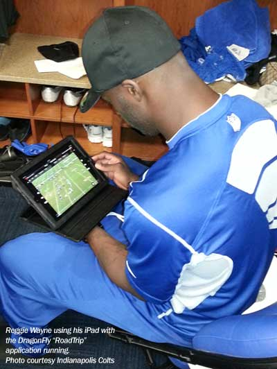Reggie Wayne and his iPad