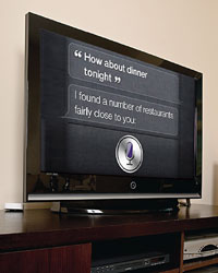 Siri on a TV
