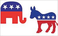 Democratic-Donkey-GOP-Elephant
