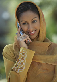 Indian-woman-Cellphone