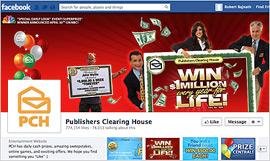 Publishers Clearing House Ups Sweepstakes Appeal, Via Facebook